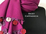 刺繍のお花つき パシュミナストール マリー ローズの画像