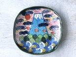 青い富士山の深皿の画像