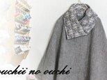 【受注生産】LIBERTYリバティ コーデュロイ&ヘリンボーン ウール 大き目カラーポンチョ♡の画像