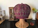 北欧トラディショナルベレー帽 【葡萄ショコラ】の画像