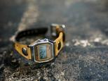 ベロアとヌメ革の2TONE腕時計 / ヴィンテージタンの画像