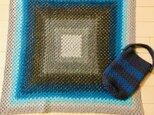 グラデーションカラーの膝掛け〔ポーチ付き〕の画像
