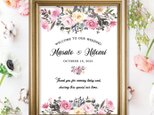 Pink Bouquet ウェルカムボード 結婚式の画像