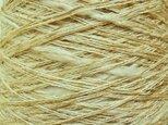 スラブミックス糸 シロ・グリーンベージュ系 313 gの画像