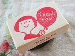 消しゴムはんこ「Thank You☆風船ガール」の画像