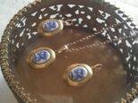 ヴィンテージ Blue薔薇/小さなLocket ネックレスの画像