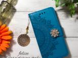 【新作】iphone6/6s/7/8 手帳型iphoneケース焼印エスニック柄の画像