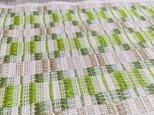 【M様専用】北欧手織りのテーブルセンター(グリーンマルチカラー)の画像