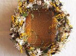 Wreath*ミモザオーバルの画像