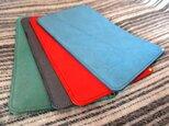 【4色選べる】ブッテーロの床革で作った小さめ書類ケースの画像