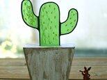 ステンドグラスのサボテンエイジング仕上げ メキシコサボテンの画像