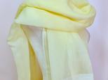 草木染ふんわり絹/綿サイドラインストール(クリームイエロー)の画像