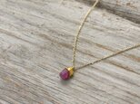 Unheated Ruby Necklace w/ JapaneseLacquer, GoldLeafの画像