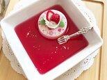 再販!花柄いちごケーキのアクセサリートレイの画像