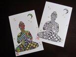 月夜のお釈迦様 ポストカード2枚セットの画像