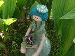 令和の女の子/浅葱色(羊毛フェルト)の画像
