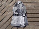 ラスト1点 『sarari』 shirt onepiece  播州織 シャツワンピースの画像