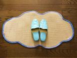 デザインラグマット-雲(blueてんとう虫ヘム)の画像