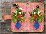 【オディロン ルドン 花3】スマホケース手帳型 全機種 対応 絵画 人気 プレゼント iPhoneXRの画像