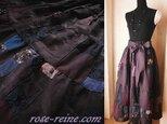 Dreamin' リネン 絵画なパッチワーク ボリューム ティアードスカートの画像