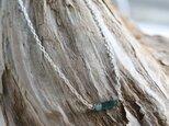Rough Rock BlueGreen Tourmarine Necklace w/ Silver925の画像