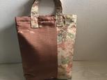 着物リメイクトートバッグ(お花)の画像