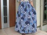 浴衣リメイク  ♧  絞りのロングスカート の画像