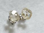 (1点もの)ハーキマーダイヤモンドのスタッドピアス・L(チタンポスト)の画像