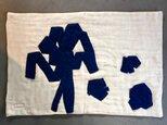 藍染模様C バスマット オーガニックコットン6重ガーゼの画像