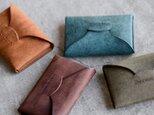 【送料無料】【カラーオーダー】プエブロ4色  手縫い名刺入れ ビジネスカードケース  名入れ可能 の画像