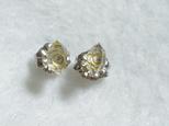 (1点もの)ハーキマーダイヤモンドのスタッドピアス・S(チタンポスト)の画像