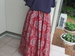 着物リメイク ♬ 大島紬 変形フレアースカート ♬  再出品登録ご遠慮願います。の画像
