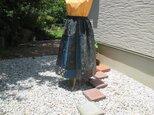 着物リメイク ◆ 大島紬のパッチスカート ◆の画像