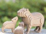 【工作キット】段々動物園-カピバラの親子・立の画像