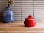 1600年創業 13代目職人 加藤さんのつくる甕(かめ)2合・赤(漬物入れ・調味料入れ)梅干し約15個ほど入りますの画像