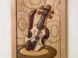 木の絵 バイオリン  *注文品の画像