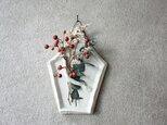 【クリスマス限定】陶の壁掛け(5角・白)の画像