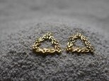 order MN様:triangle and flowers earringsの画像