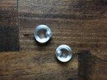 minimal glass+pearl ○。pierce 【ガラスピアス】【淡水パールピアス】の画像