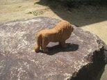 木製彫刻ライオンの画像