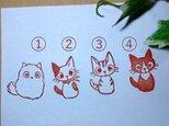 子猫4種・消しゴムはんこの画像