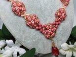 秋桜      (チェコ・ピンクのネックレス)の画像
