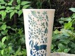 Large kakitoshi cup - 兎と新月の画像