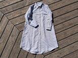 最終SALE linen/cotton shirt onepiece  播州織 シャツワンピースの画像