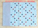 入園 ランチョンマット 星柄ブルー 25×35 両面 ランチマットの画像