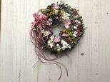 優しい紫陽花リース・プリザーブトフラワーの画像