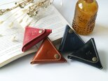 《イニシャル刻印無料♩》◀︎△▼ 三角コインケース / 小物入れ ▽▲▷の画像