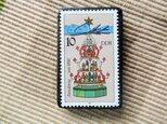 東ドイツ クリスマス切手ブローチ5574の画像
