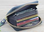 本革 コンパクト収納 カードケース/ミニ財布 ☆Black☆の画像