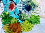 最高級 琉球ガラス 花瓶 1点物の画像